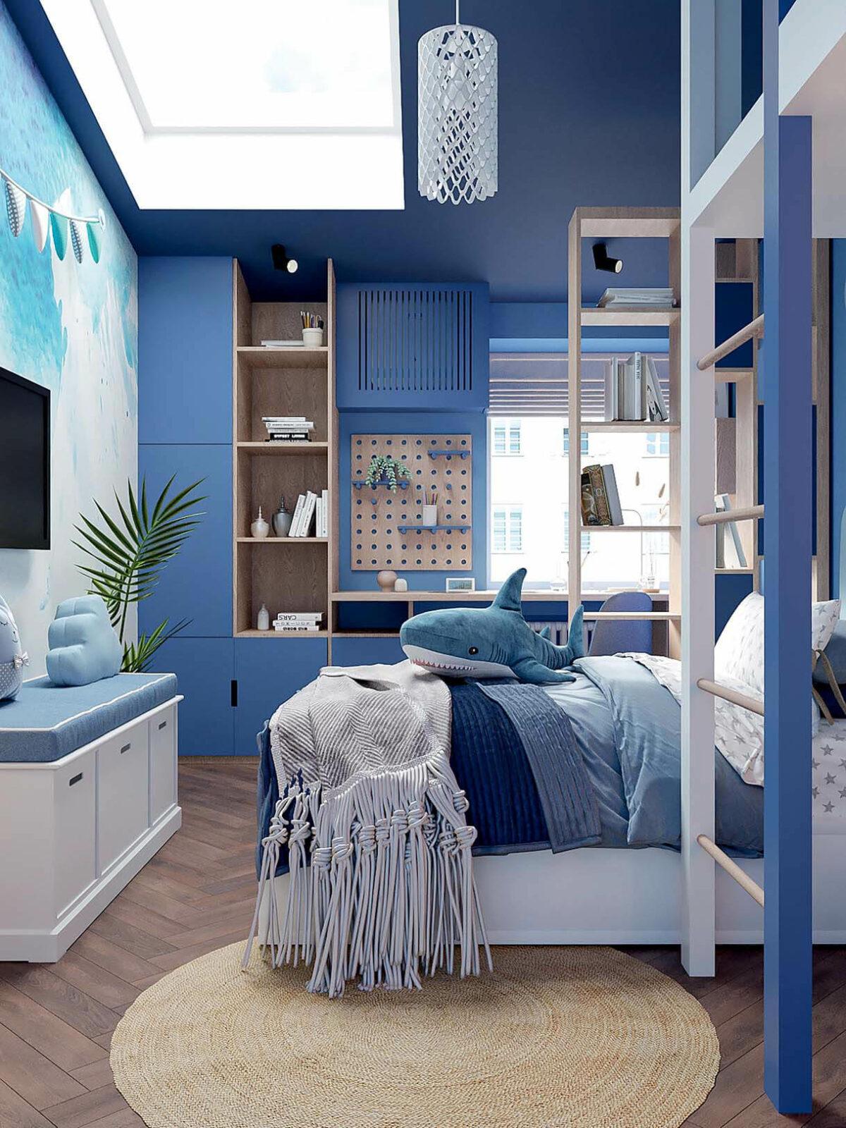 Мебель детской спальни девочки-школьницы проект 3973-2-1