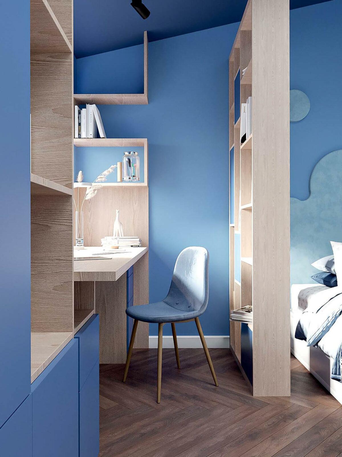 Мебель детской спальни девочки-школьницы проект 3973-2-3