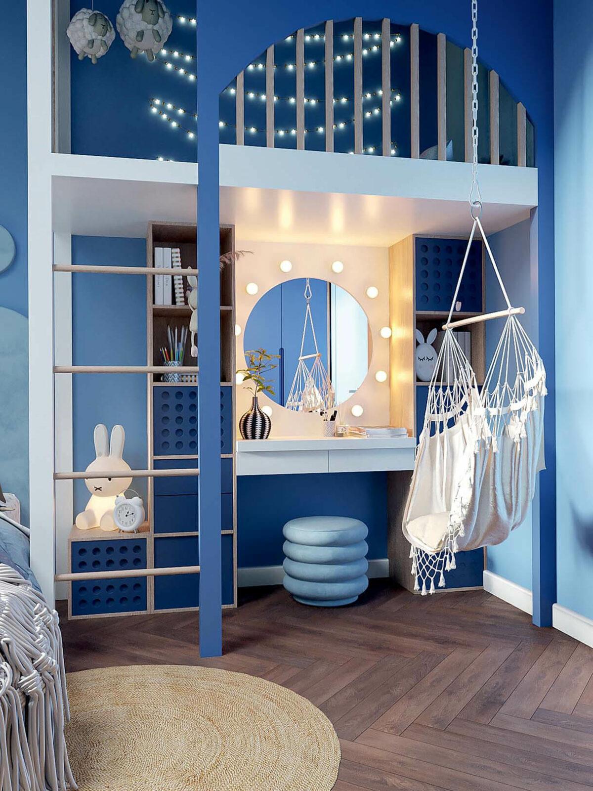 Мебель детской спальни девочки-школьницы проект 3973-2-4