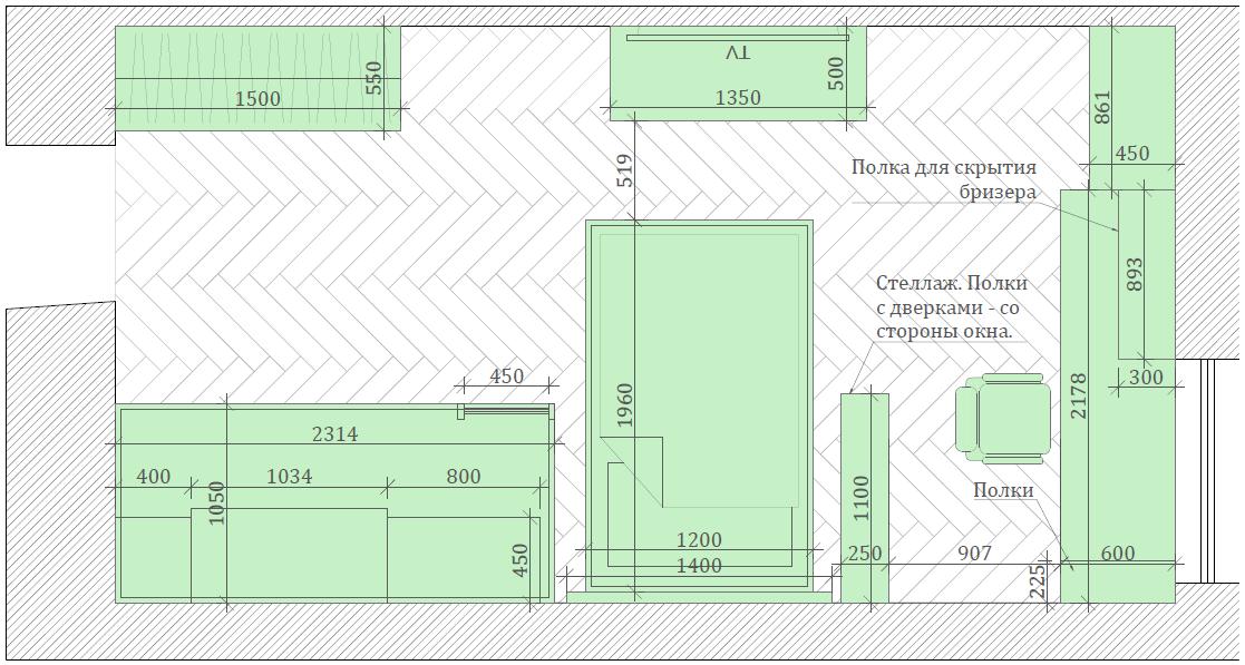 Мебель детской спальни девочки-школьницы проект 3973-2-8