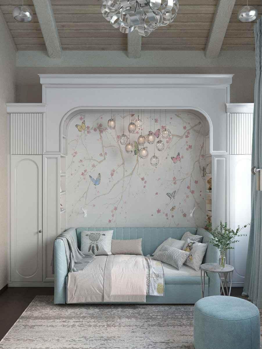 Мебель детской спальни девочки-школьницы проект 4609-1