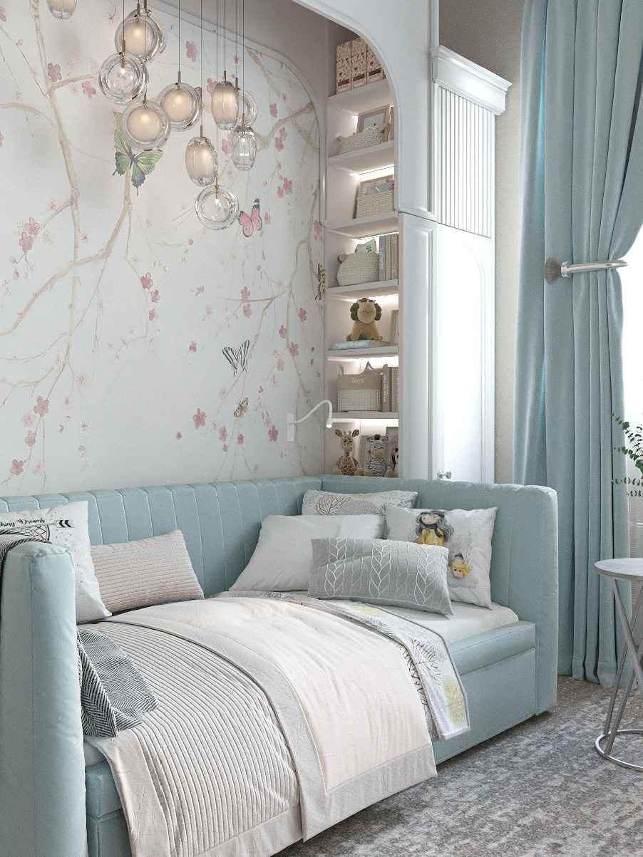 Мебель детской спальни девочки-школьницы проект 4609-2