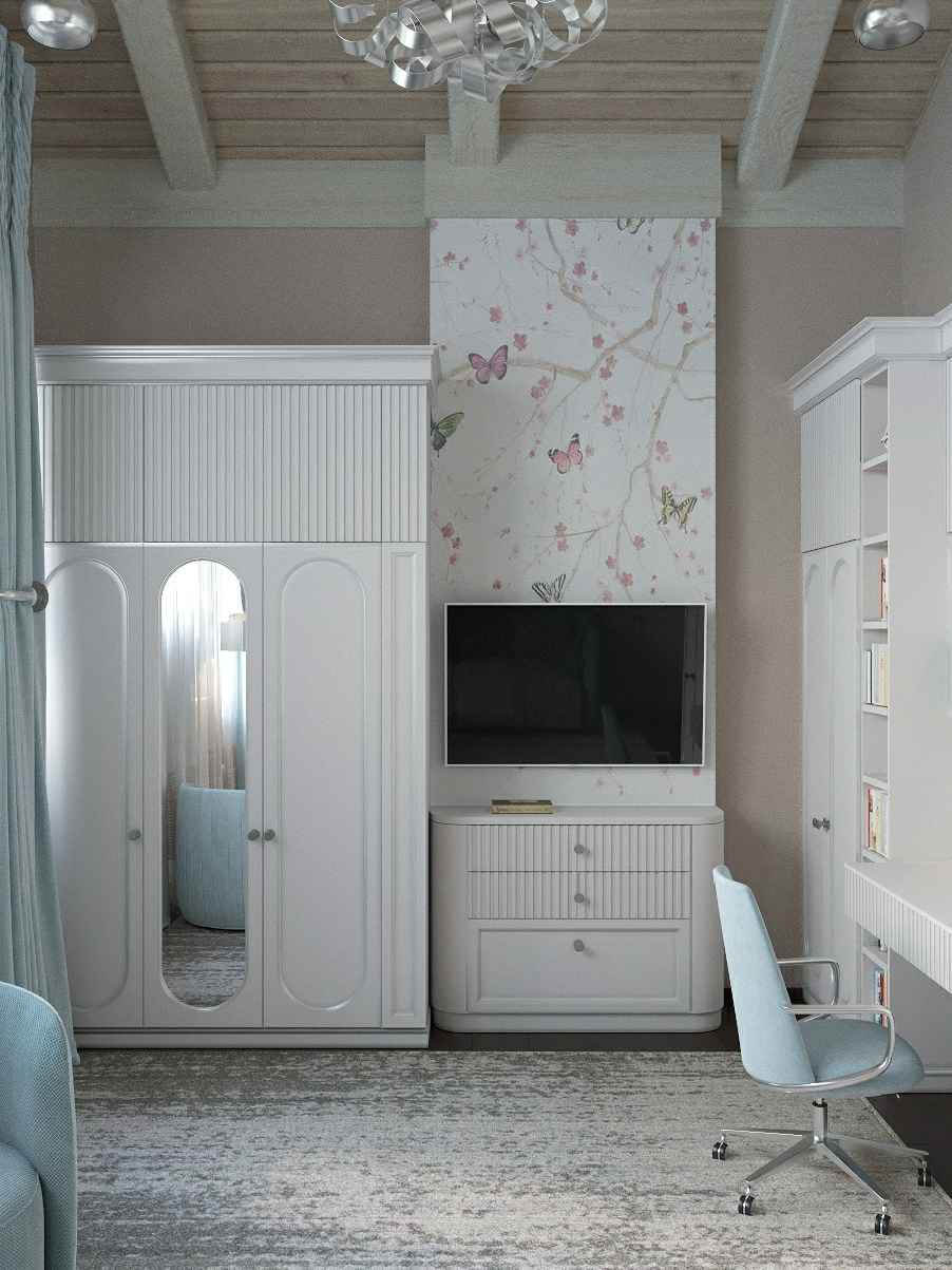 Мебель детской спальни девочки-школьницы проект 4609-3
