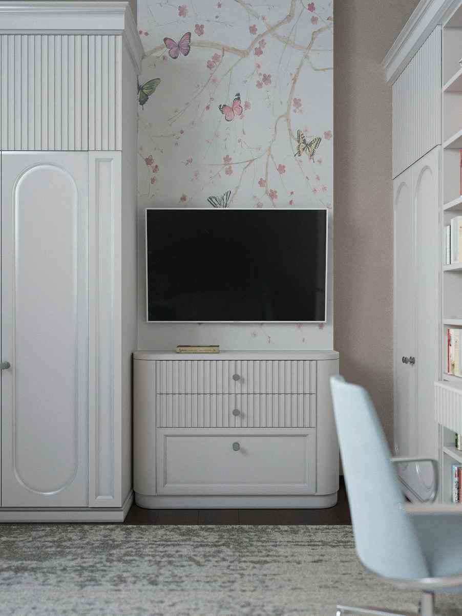 Мебель детской спальни девочки-школьницы проект 4609-4