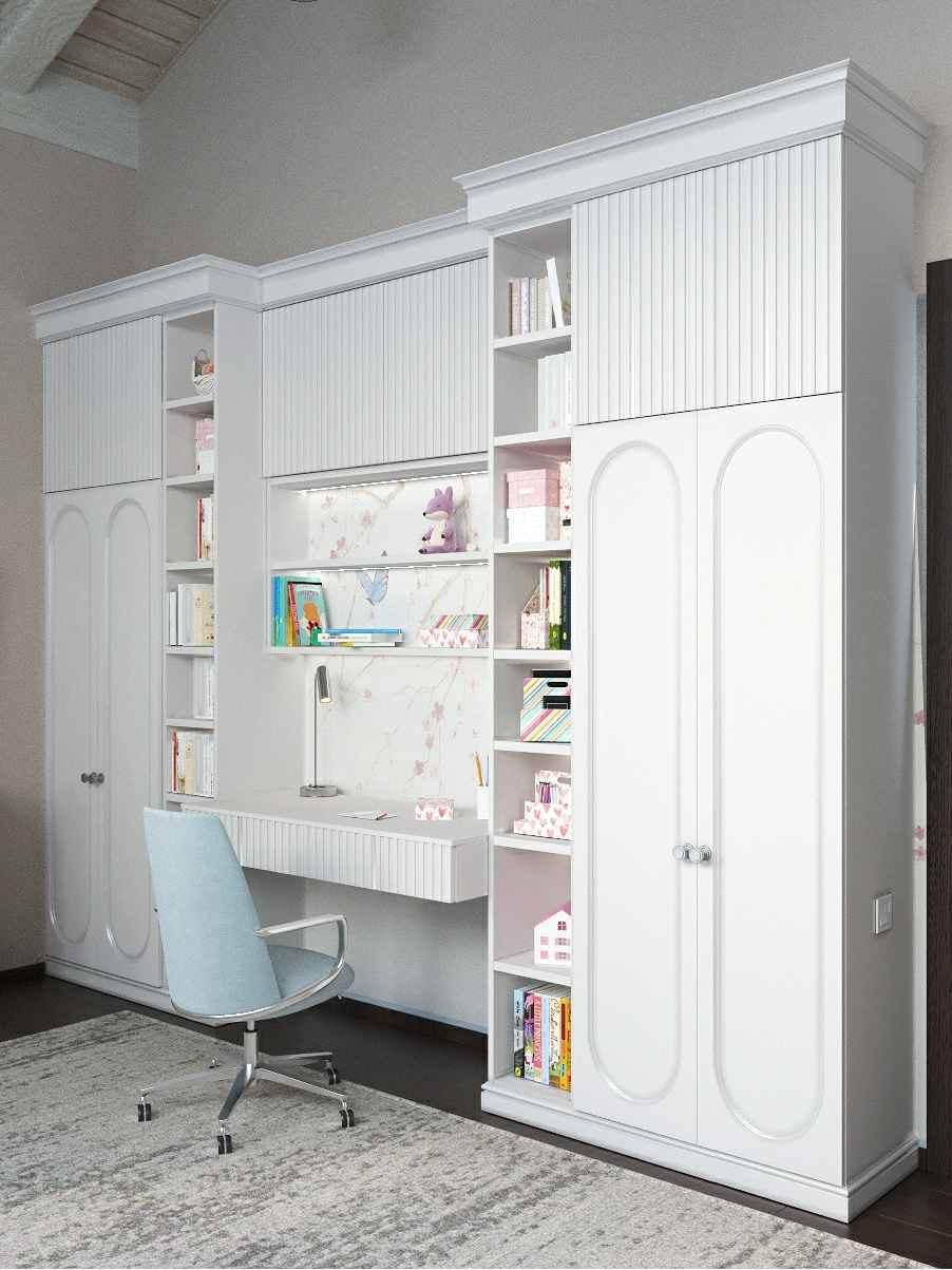 Мебель детской спальни девочки-школьницы проект 4609-5