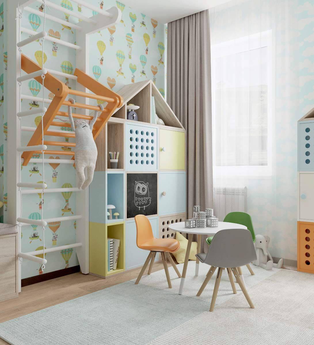 Мебель детской спальни для девочки 2-5 лет проект 3771-1