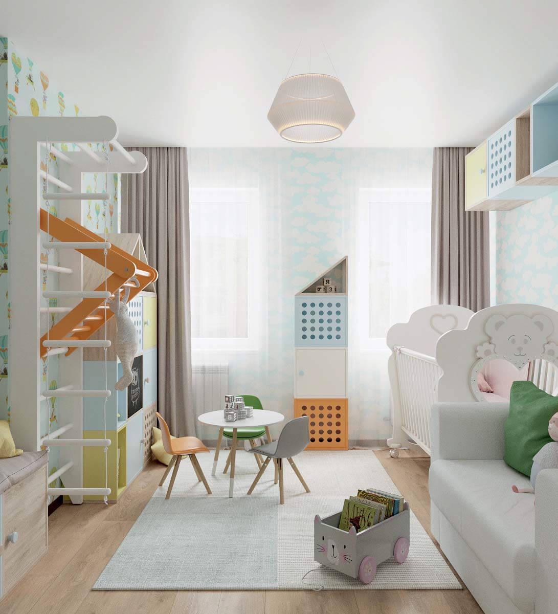 Мебель детской спальни для девочки 2-5 лет проект 3771-2