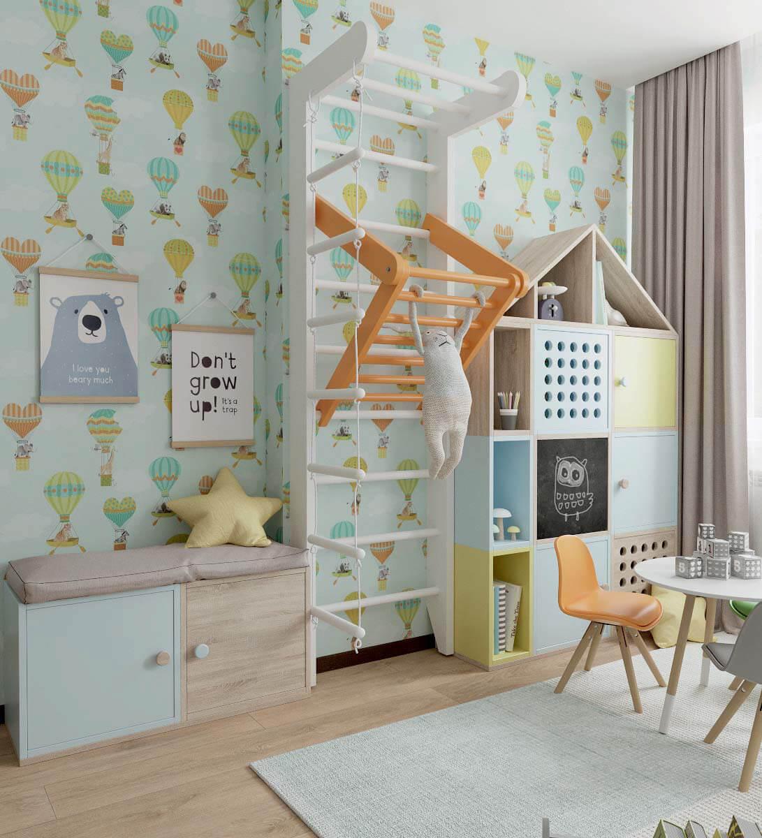 Мебель детской спальни для девочки 2-5 лет проект 3771-8