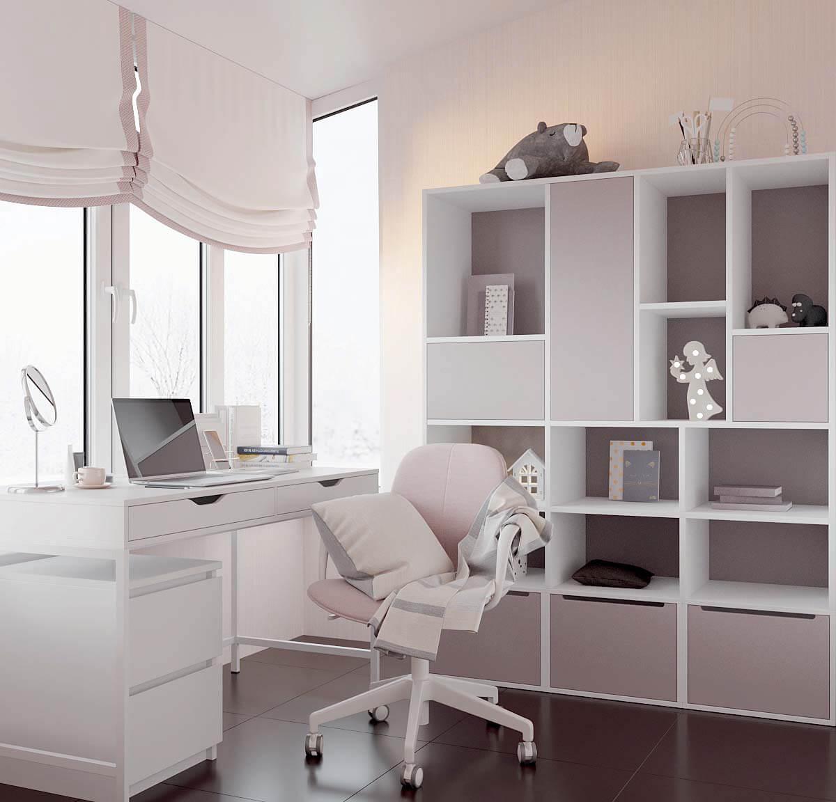 Мебель детской спальни для девочки проект 3823-3