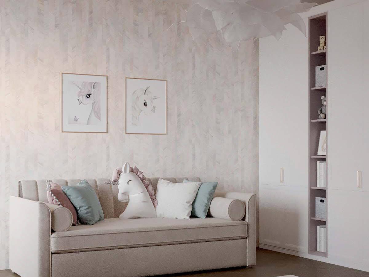 Мебель детской спальни для девочки проект 3823-4