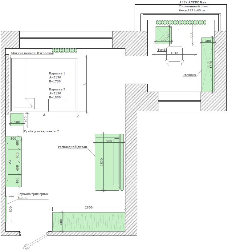 Мебель детской спальни для девочки проект 3823-5