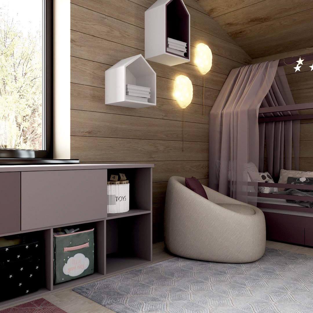 Мебель детской спальни для девочки 7-10 лет проект 3769-1