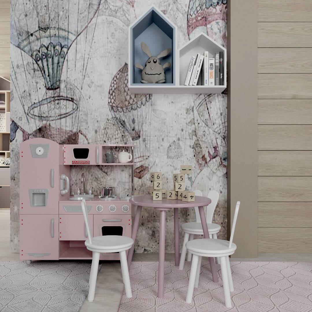 Мебель детской спальни для девочки 7-10 лет проект 3769-3