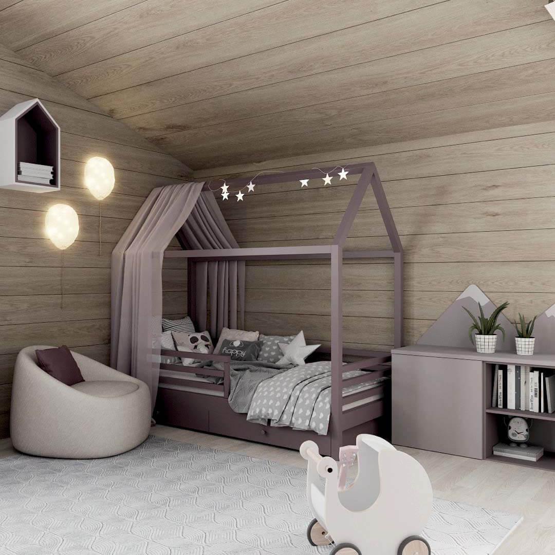 Мебель детской спальни для девочки 7-10 лет проект 3769-4