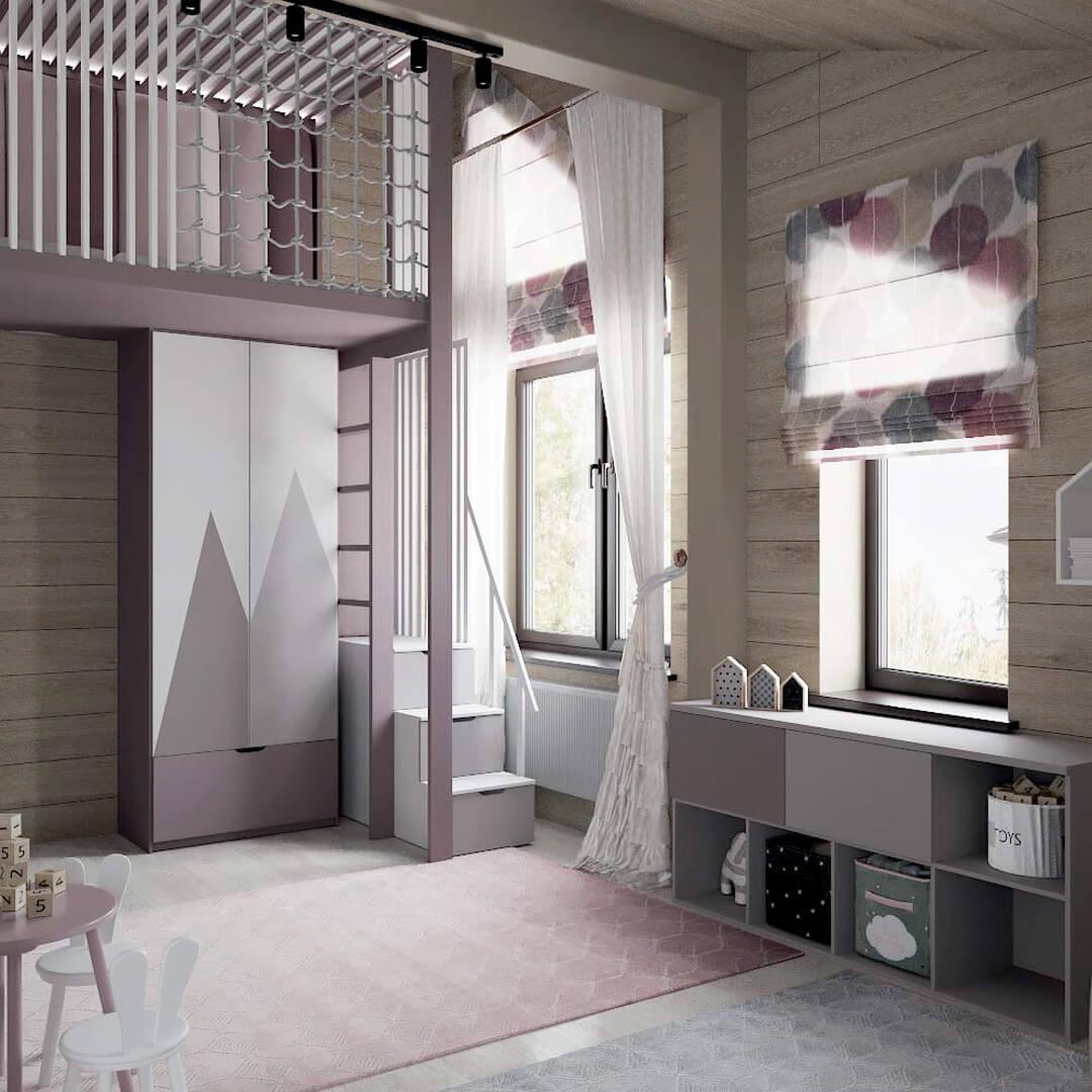 Мебель детской спальни для девочки 7-10 лет проект 3769-5