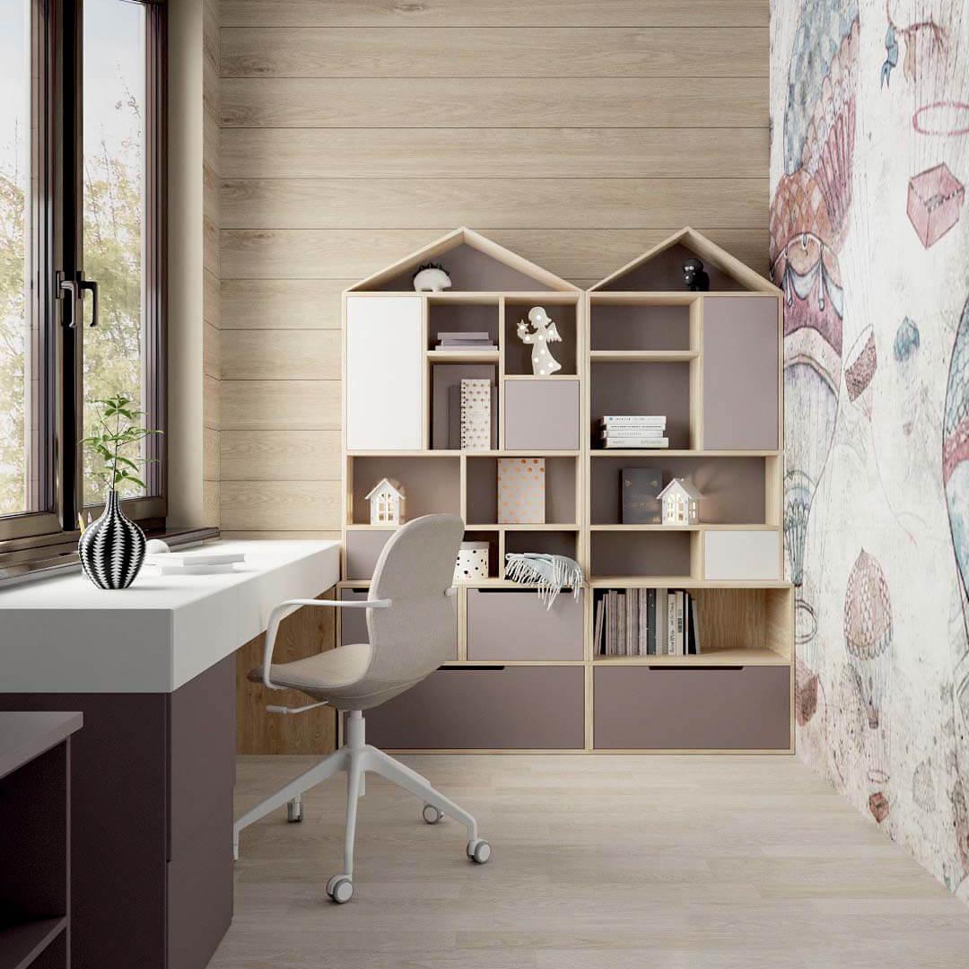 Мебель детской спальни для девочки 7-10 лет проект 3769-7
