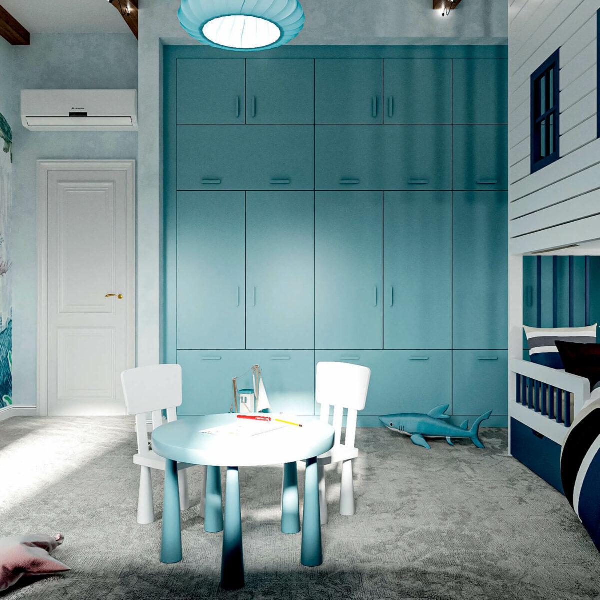 Мебель детской спальни мальчика 3-9 лет проект 4867-4