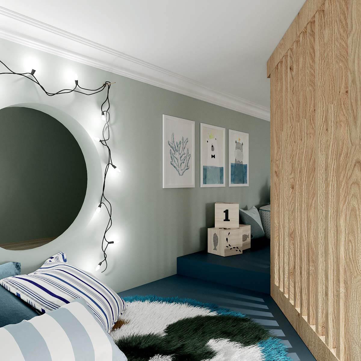 Мебель детской спальни мальчика проект 4409-1