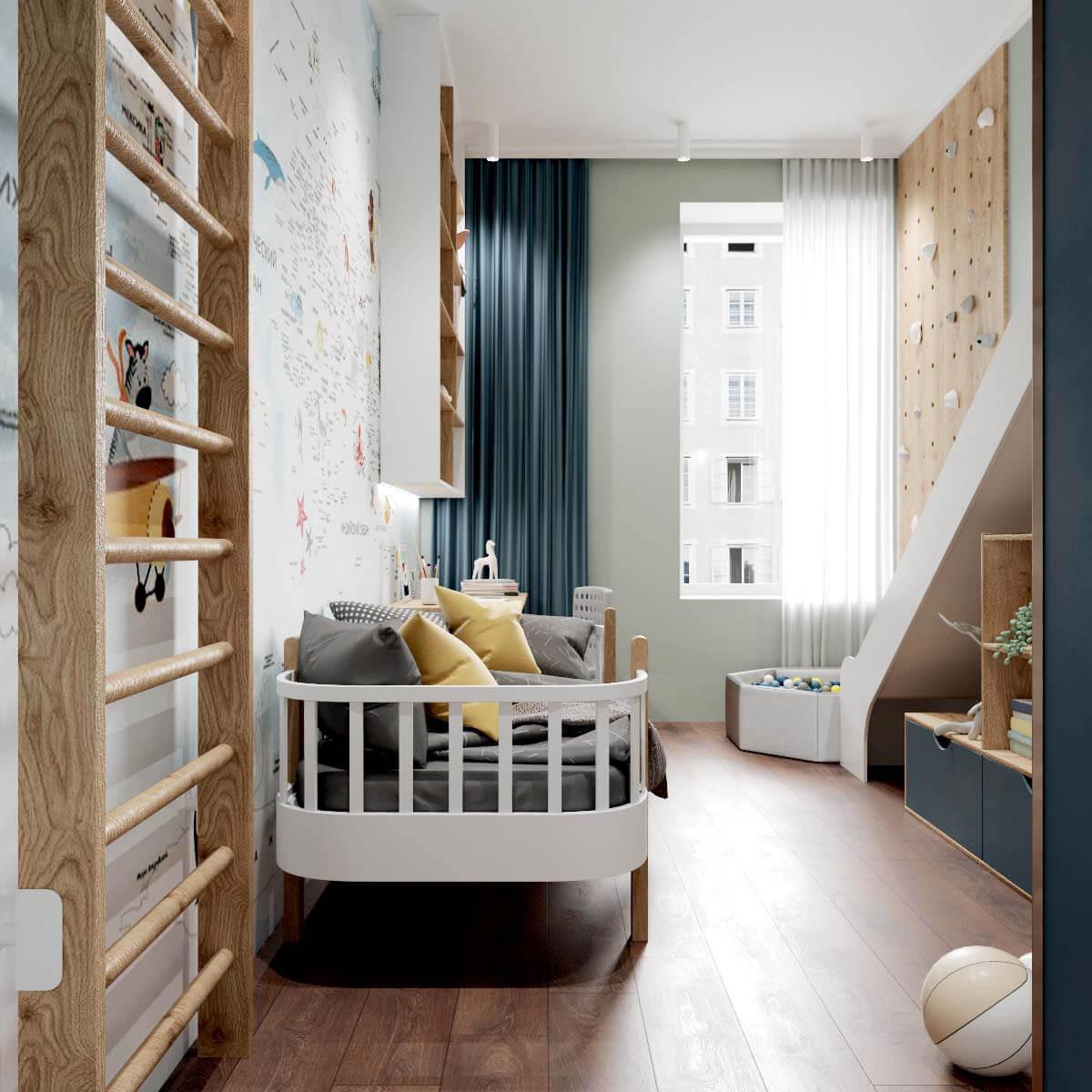 Мебель детской спальни мальчика проект 4409-2