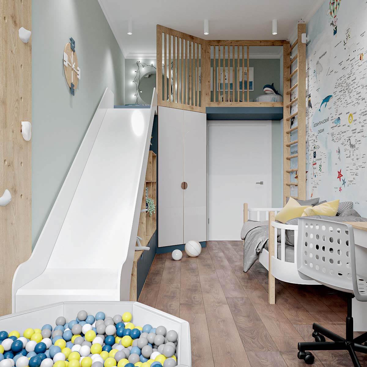 Мебель детской спальни мальчика проект 4409-3