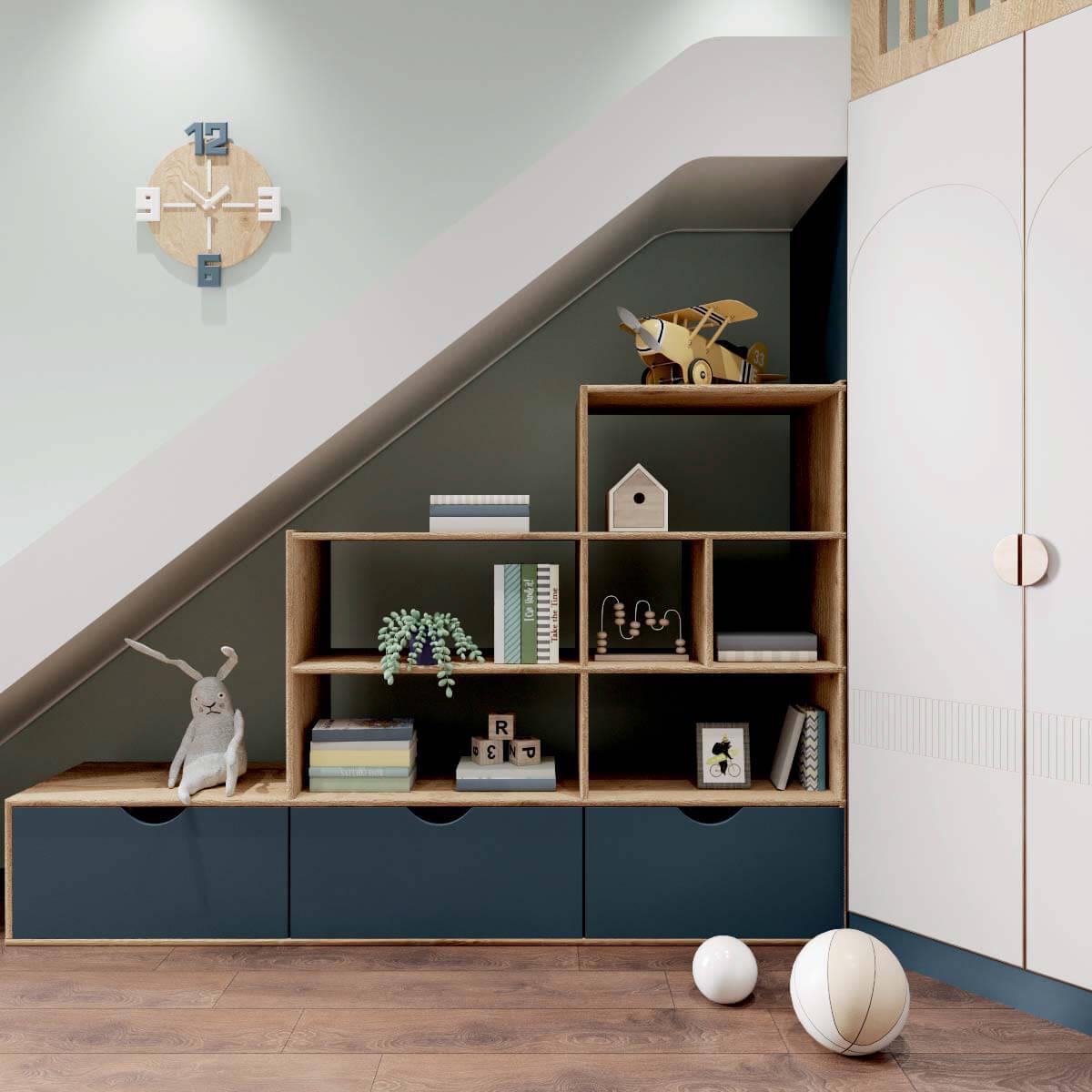 Мебель детской спальни мальчика проект 4409-4
