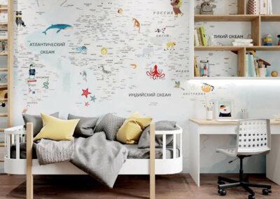 Функциональная мебель в детскую спальню мальчика — проект 4409