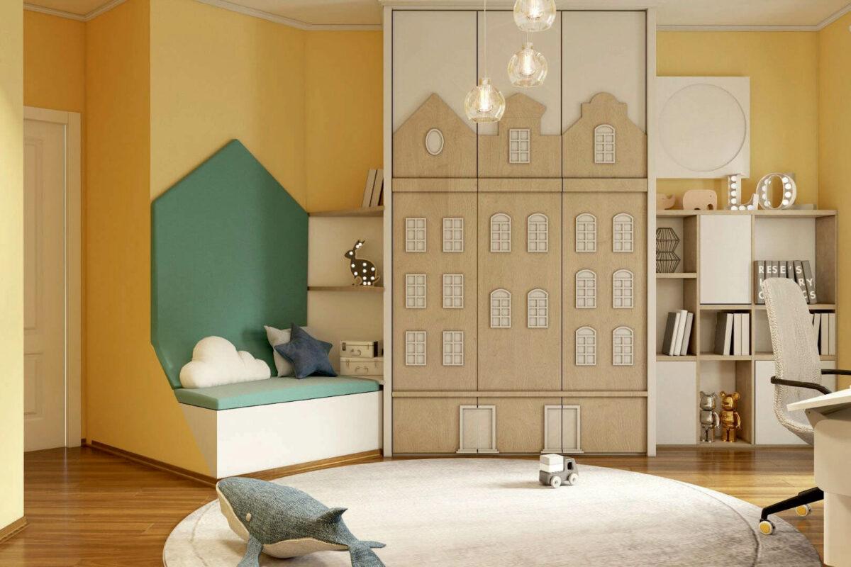 Мебель детской спальни мальчика проект 4595-1