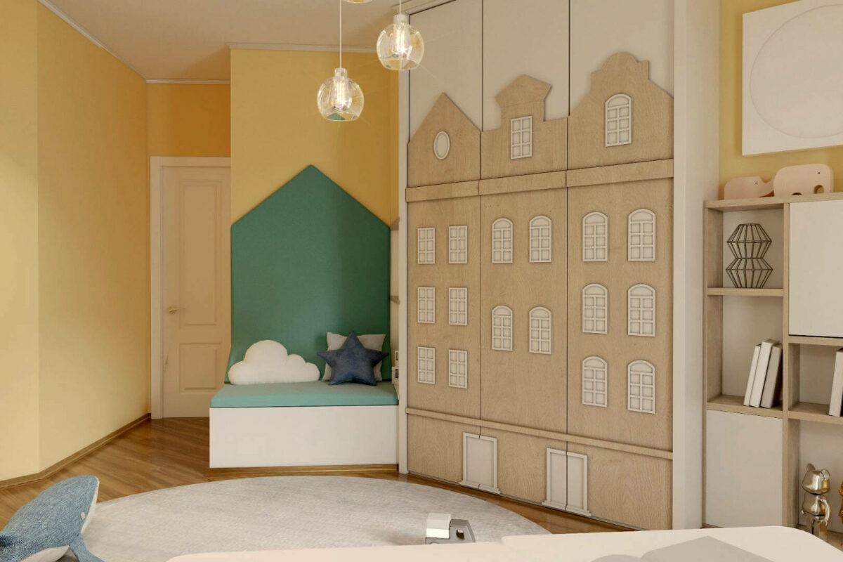Мебель детской спальни мальчика проект 4595-2
