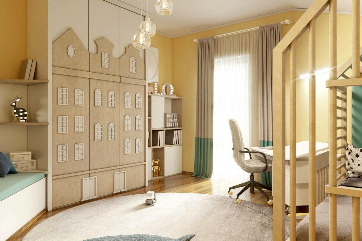 Мебель детской спальни мальчика проект 4595-3