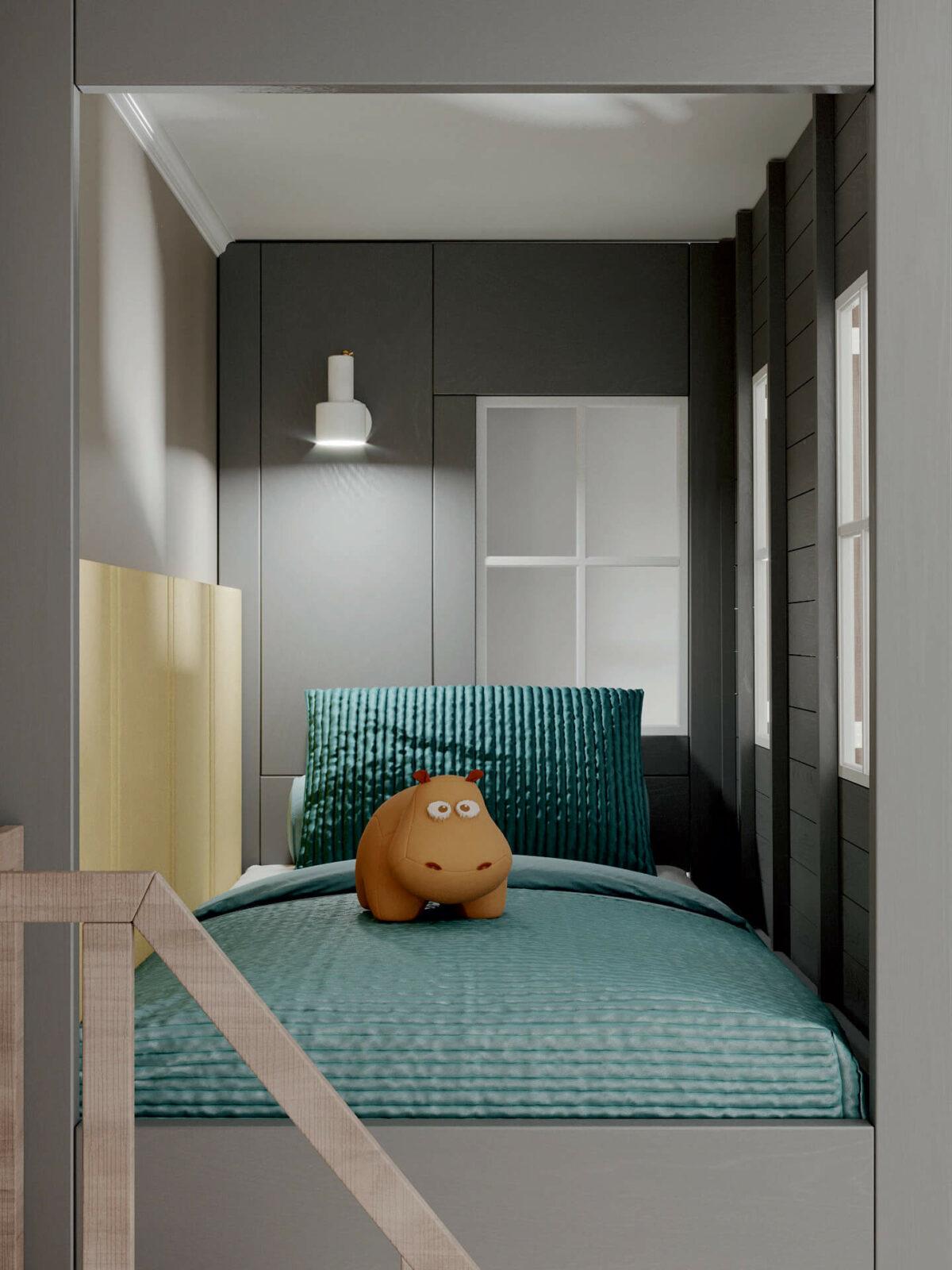 Мебель детской спальни мальчика проект 4619-3