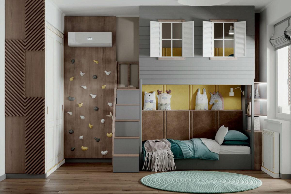 Мебель детской спальни мальчика проект 4619-4