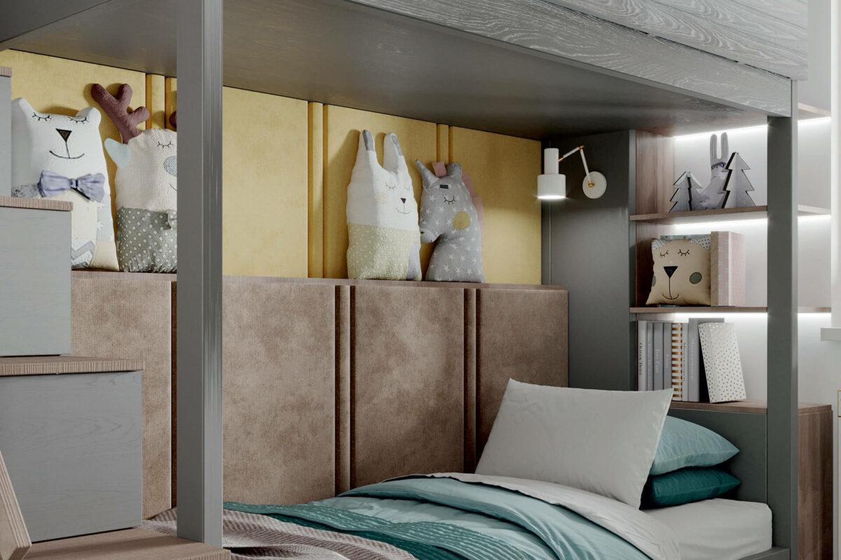 Мебель детской спальни мальчика проект 4619-5