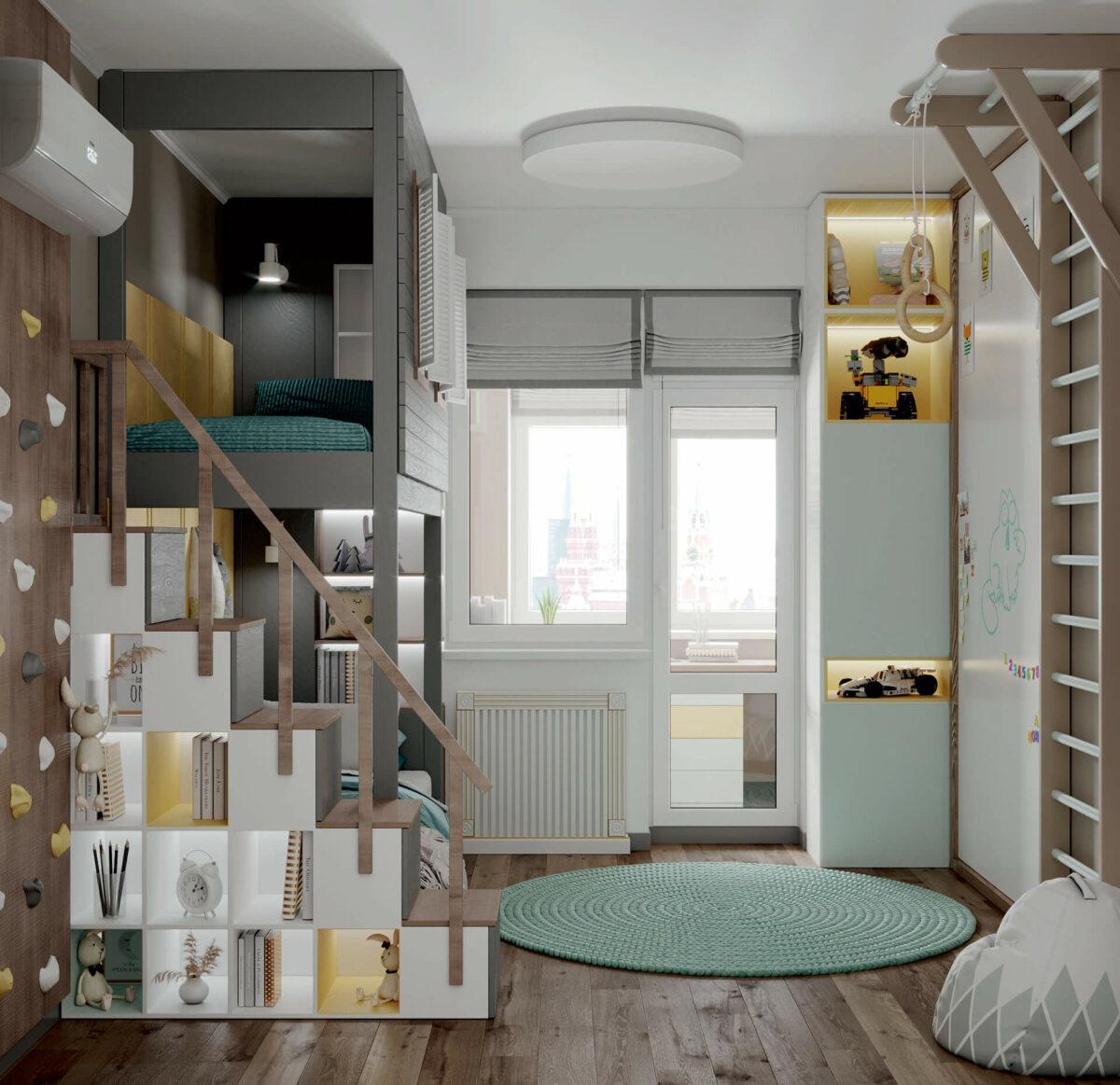Мебель детской спальни мальчика проект 4619-6