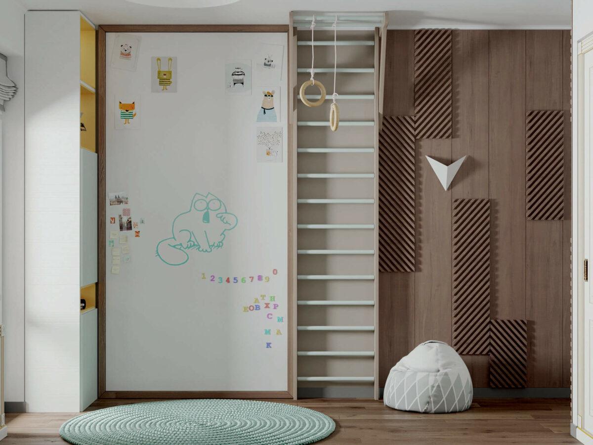 Мебель детской спальни мальчика проект 4619-7