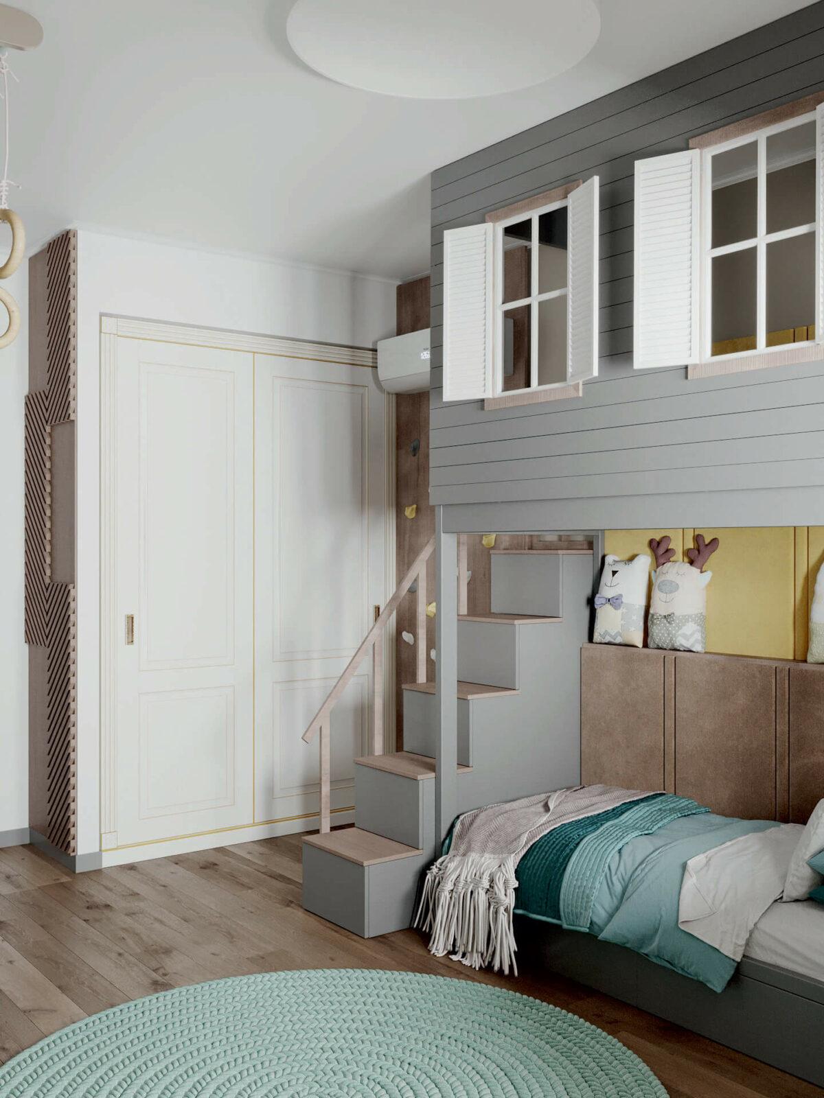 Мебель детской спальни мальчика проект 4619-8