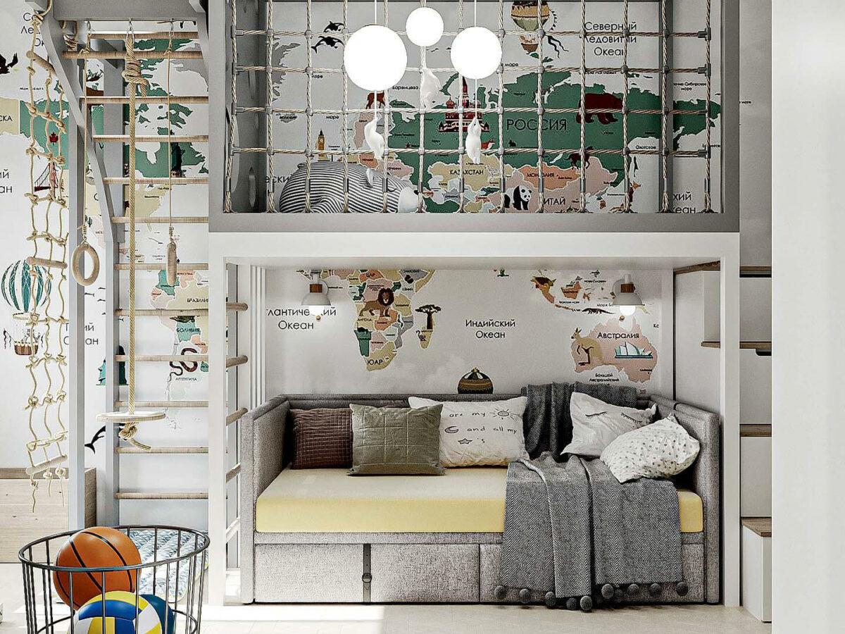 Мебель детской спальни мальчика проект 5437-1-1