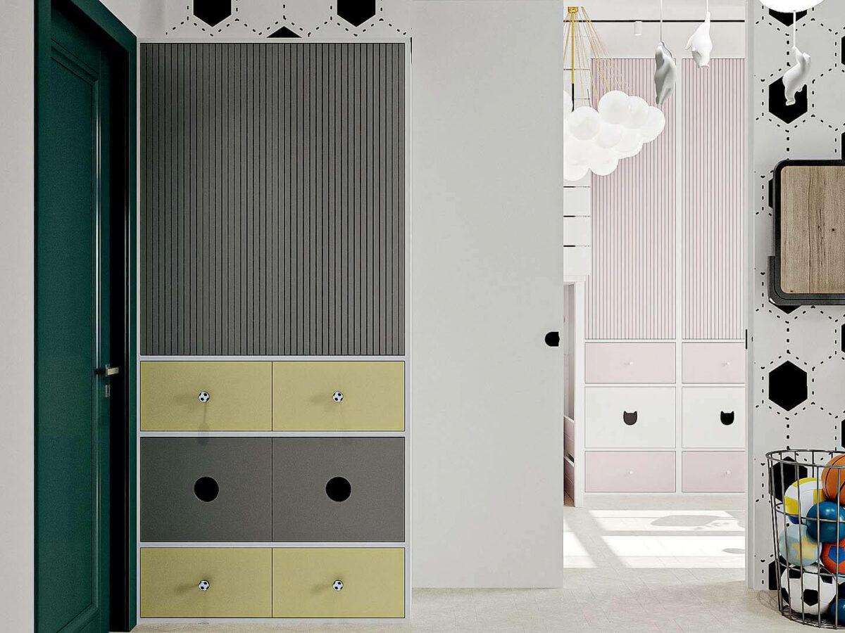 Мебель детской спальни мальчика проект 5437-1-3