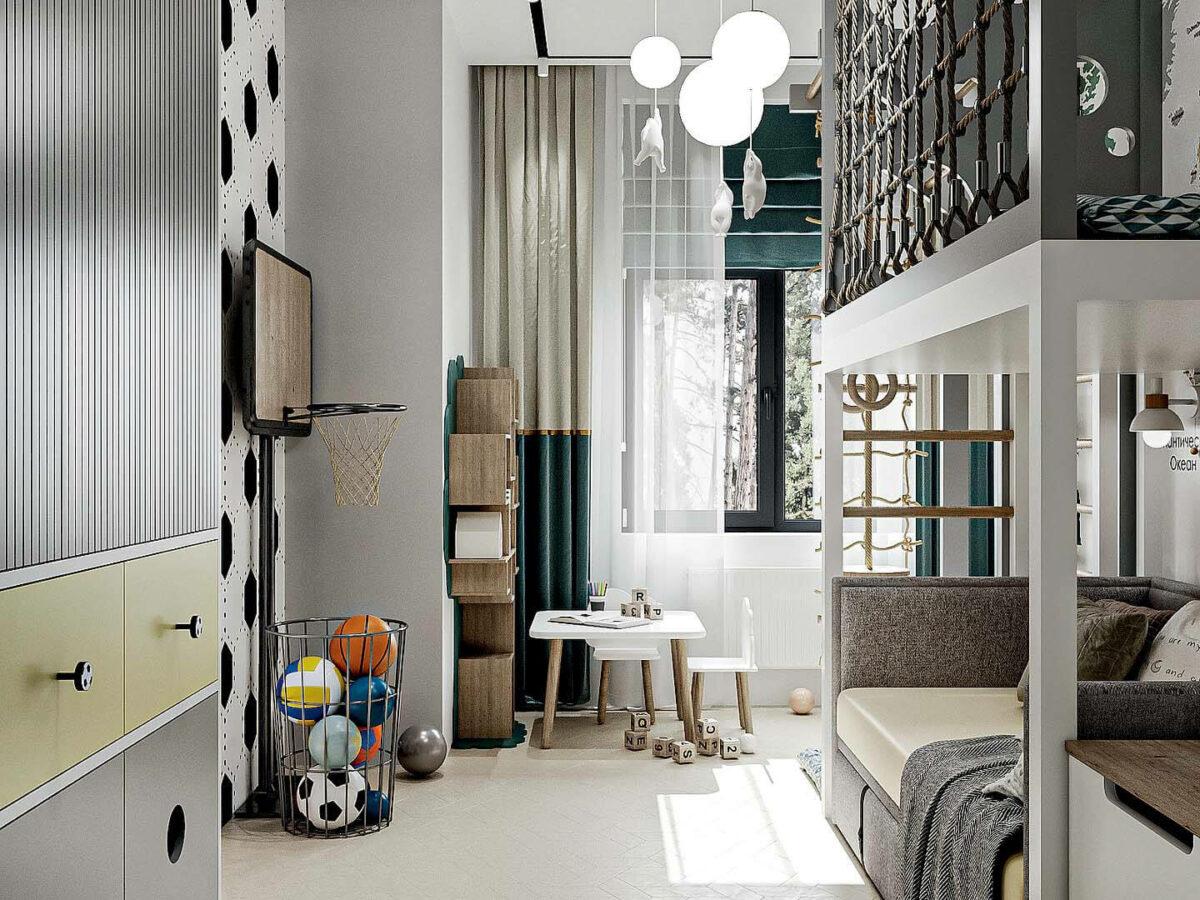 Мебель детской спальни мальчика проект 5437-1-5