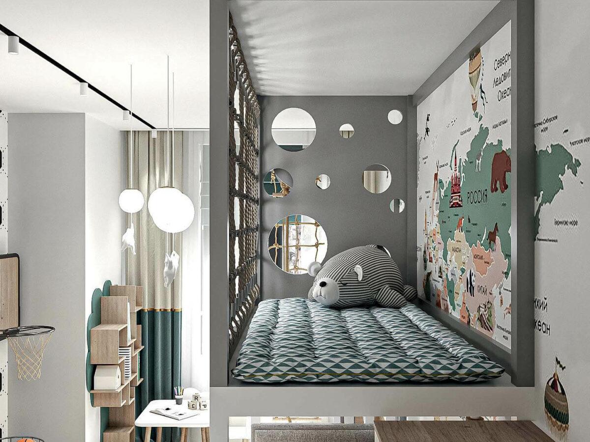 Мебель детской спальни мальчика проект 5437-1-7