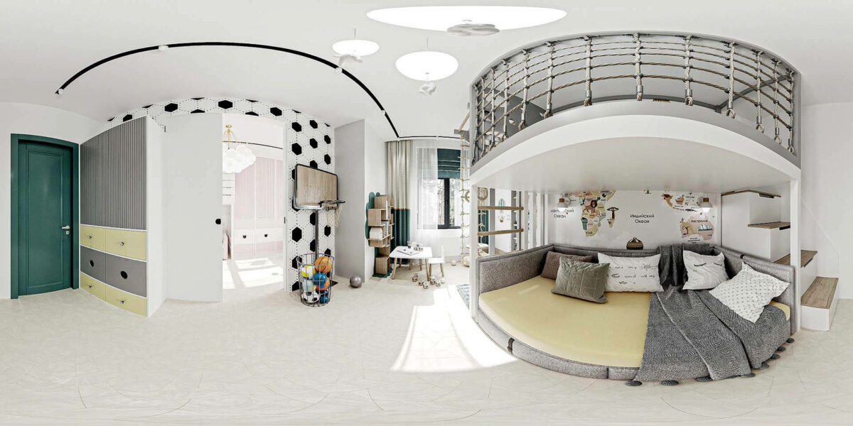 Мебель детской спальни мальчика проект 5437-1-8
