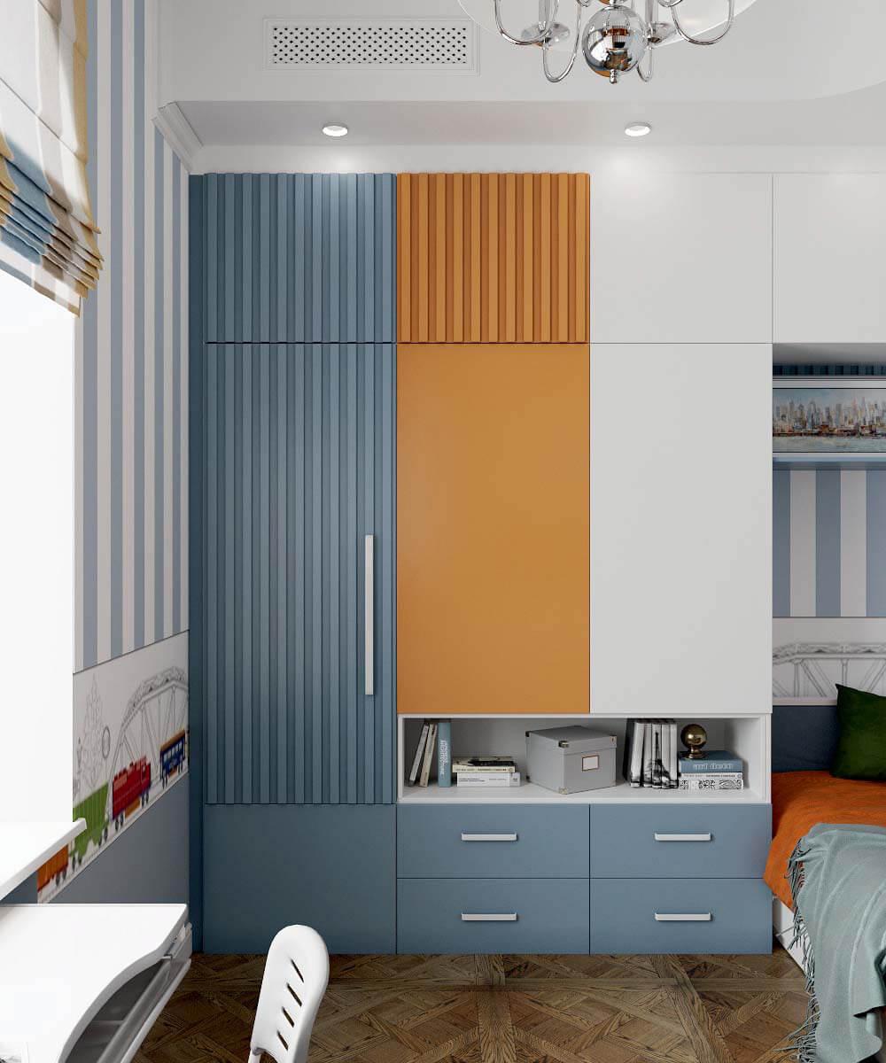 Мебель детской спальни мальчика 7 лет проект 3663-6