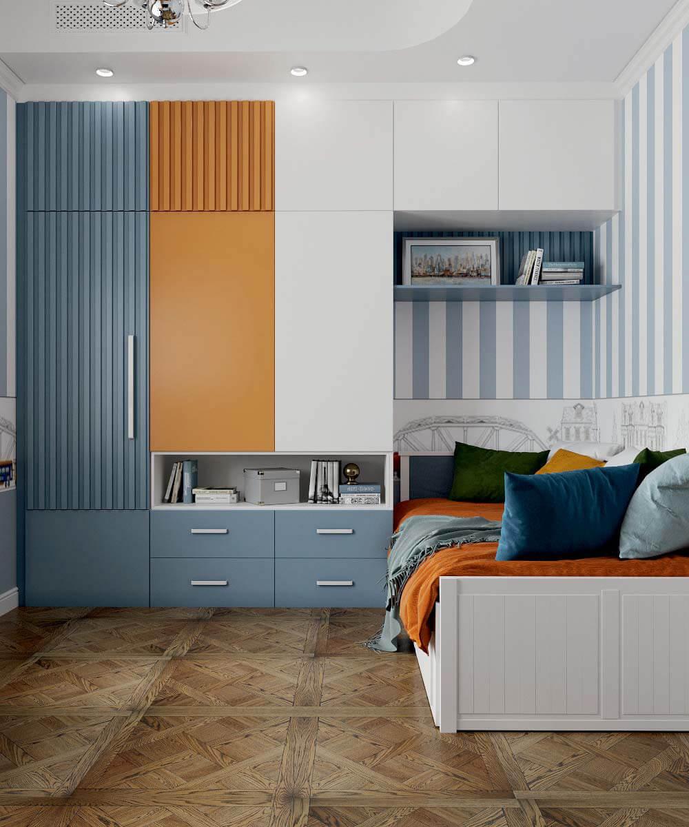 Мебель детской спальни мальчика 7 лет проект 3663-8