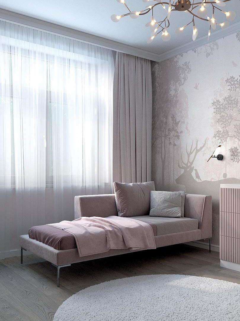Мебель детской спальни маленькой девочки проект 5191-2