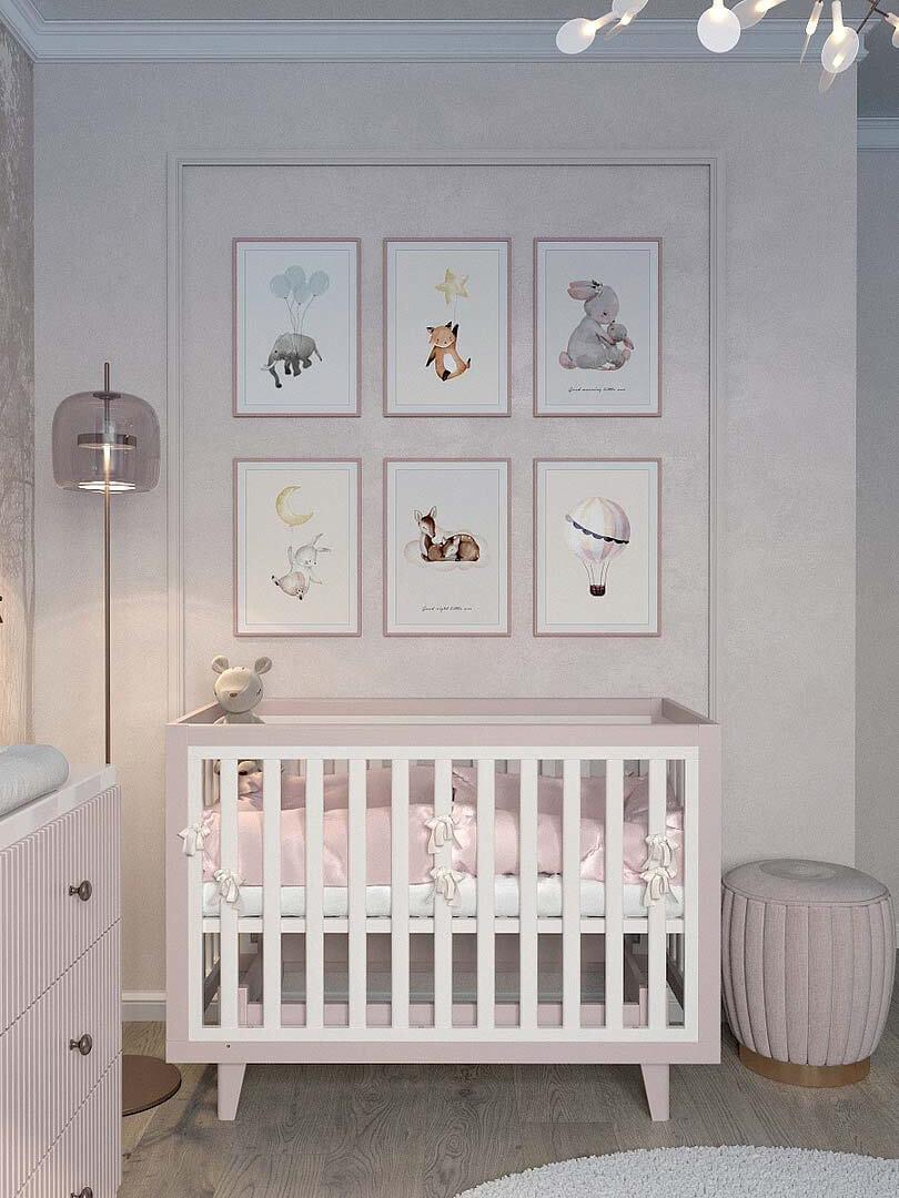Мебель детской спальни маленькой девочки проект 5191-3