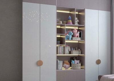 Утонченная мебель детской спальни для маленькой девочки — проект 5191