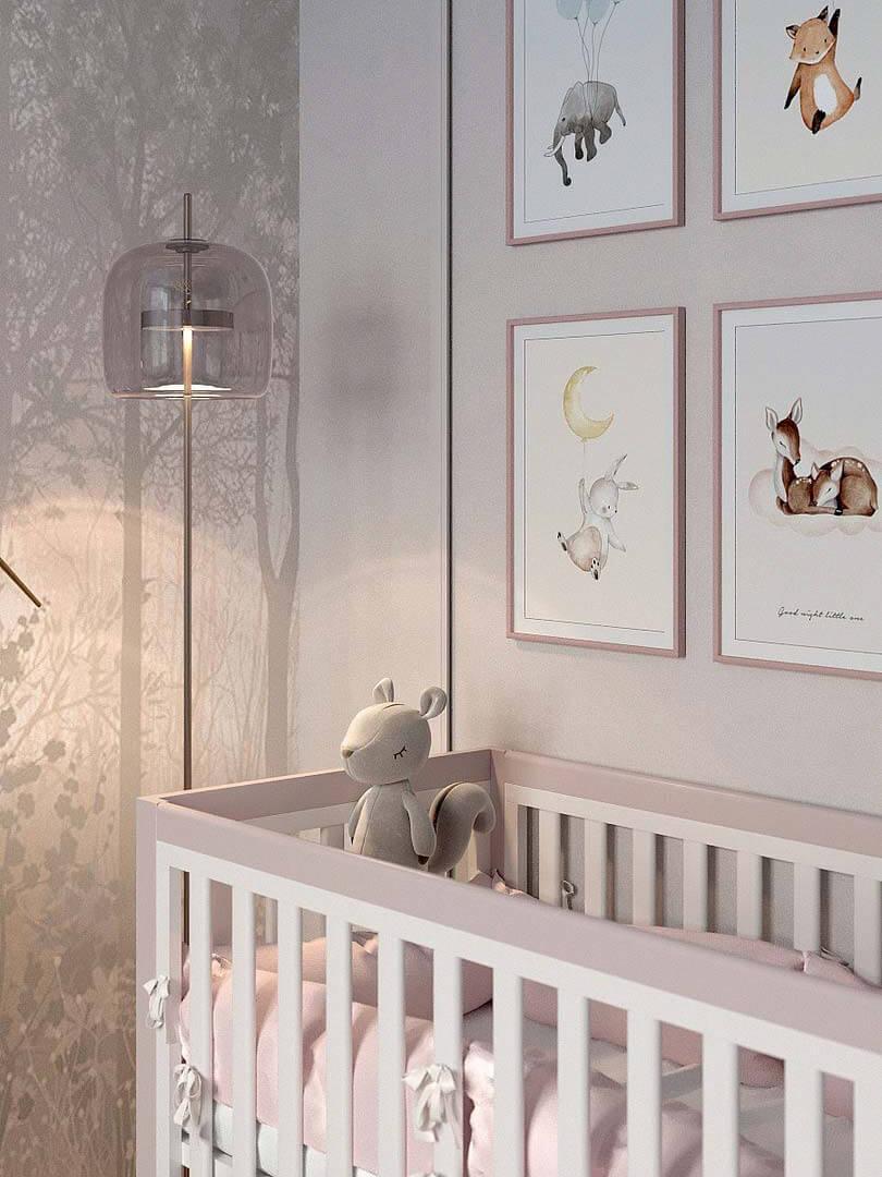 Мебель детской спальни маленькой девочки проект 5191-5