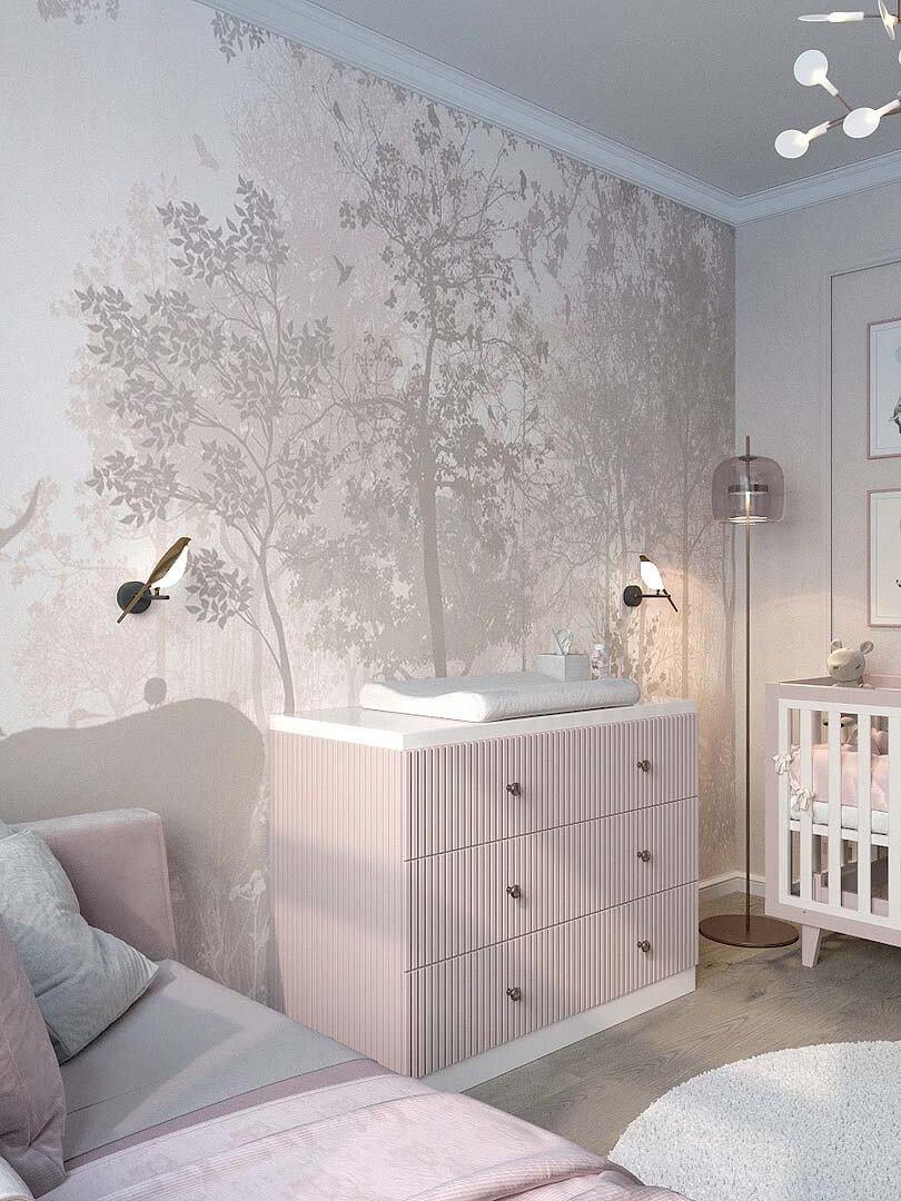 Мебель детской спальни маленькой девочки проект 5191-6