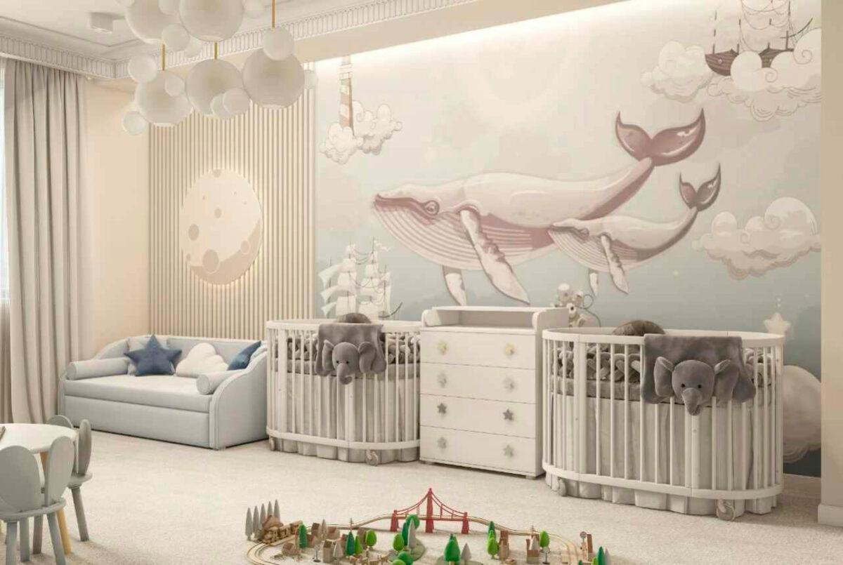 Мебель детской спальни новорожденных проект 4597-1