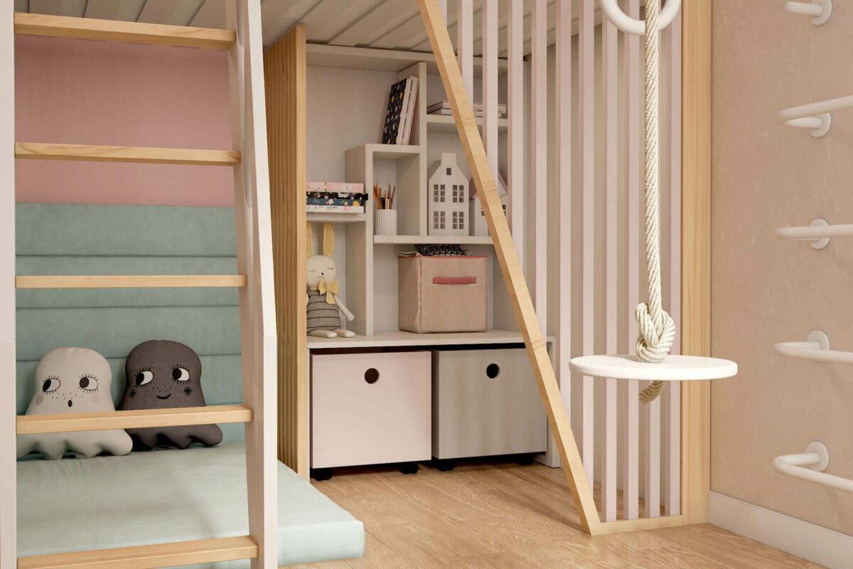 Мебель для детской комнаты девочки проект 3753-1