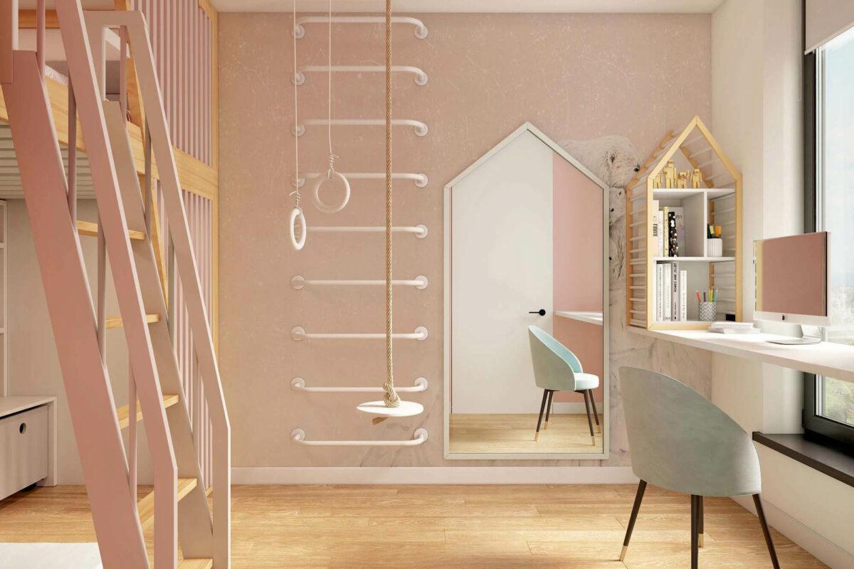 Мебель для детской комнаты девочки проект 3753-2